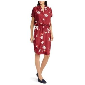 Lauren Ralph Lauren Floral-Print Drawstring Dress
